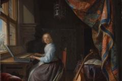 Gerard Dou Jeune femme au clavicorde