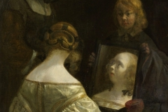 Gerard ter Borch Femme à son miroir