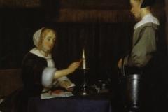 Gerard ter Borch Femme cachetant une lettre