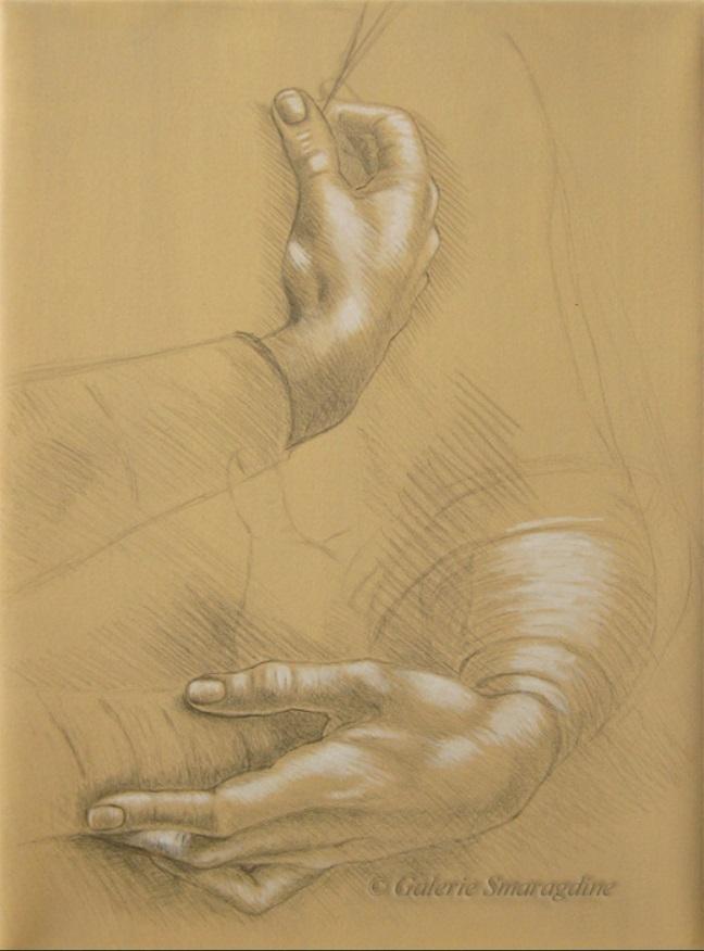 Étude de mains d'après Léonard de Vinci029