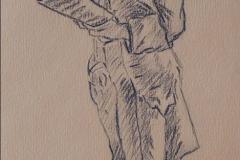Jeune homme lisant d'après Hubert Robert012