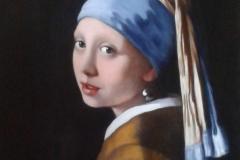 Jeune fille à la perle d'après Vermeer031