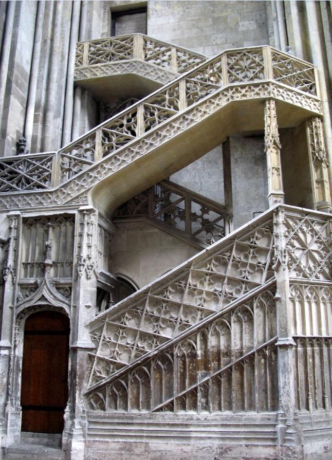 119 Escalier des libraires.Rouen Cathédrale