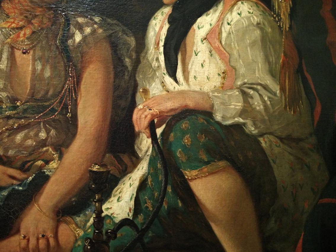 23détail Femmes d'Alger dans leur appartement