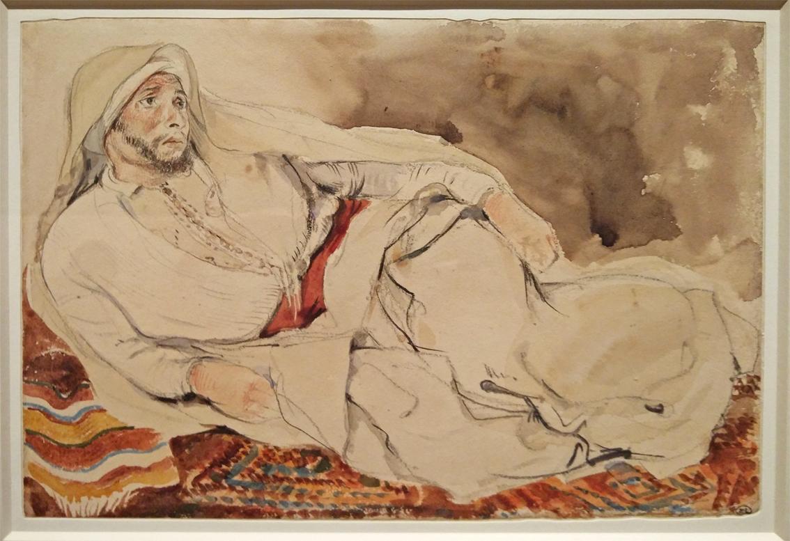 31Cheik arabe couché sur un tapis