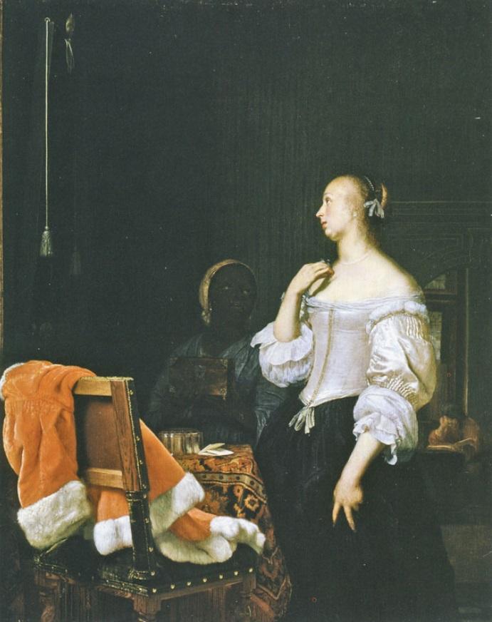 Frans van Mieris Femme à son miroir