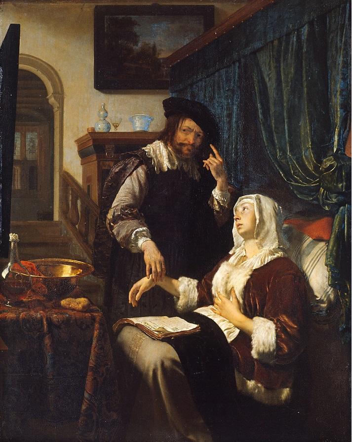 Frans van Mieris La visite du médecin
