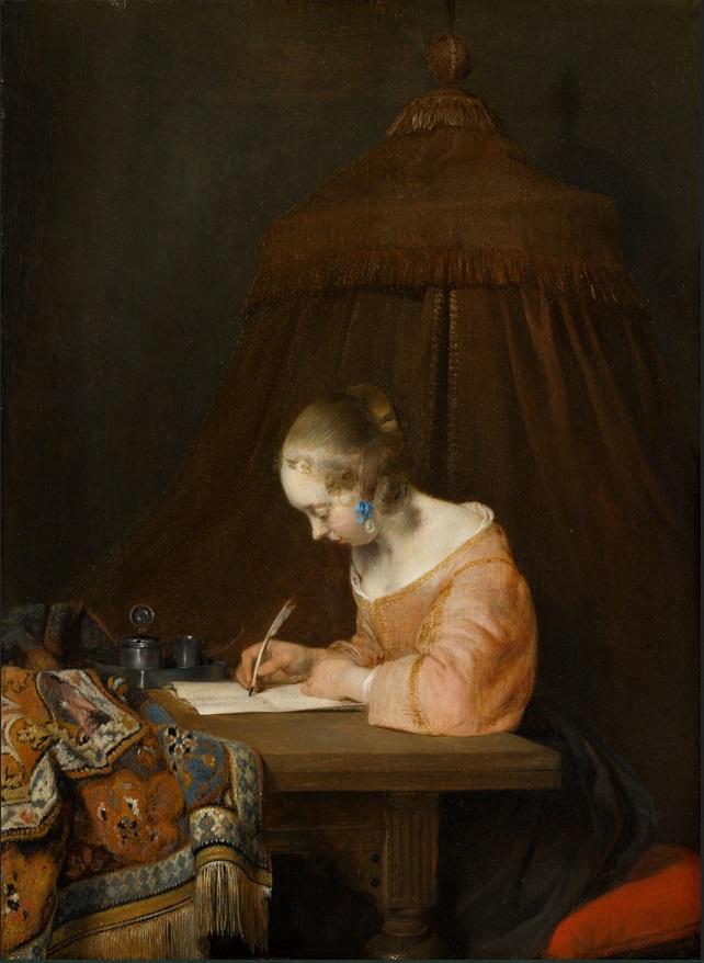 Gerard ter Borch Femme écrivant une lettre