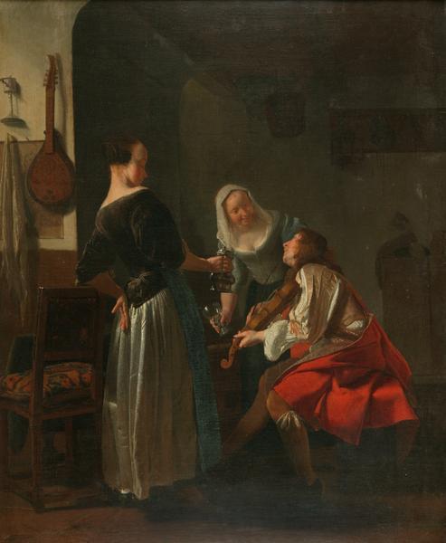 Jacob Ochtervelt Joyeuse compagnie