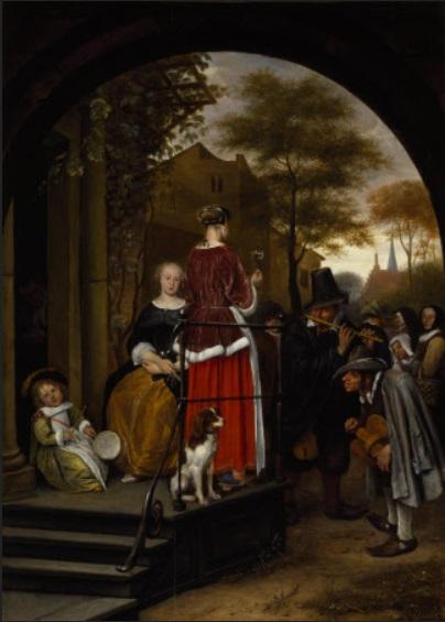 Jan Steen Musiciens ambulants