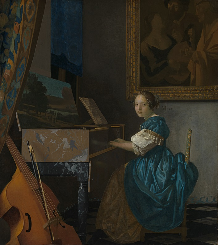 Vermeer Jeune femme assise au virginal