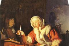 Frans van Mieris Le bâtonnet de cire