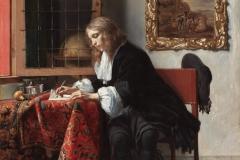 Gabriel Metsu Jeune homme écrivant une lettre