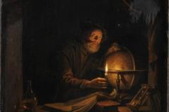 """Gerard Dou """"Astronome à la chandelle"""""""