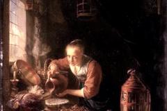 Gerard Dou La cuisine hollandaise