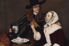 Gerard ter Borch Homme incitant une femme à boire