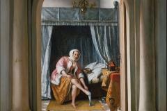 Jan Steen Femme à sa toilette