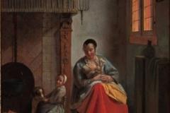 Pieter de Hooch La nourrice, l'enfant et le chien