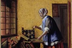 Pieter de Hooch La peseuse d'or