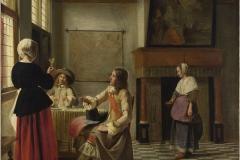 Pieter de Hooch Le verre levé