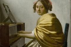 Vermeer(?) Jeune femme assise au virginal