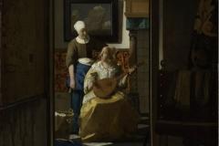 Vermeer La lettre d'amour