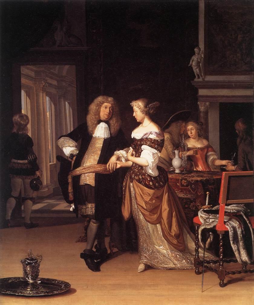 """Eglon van der Neer """"Couple élégant dans un intérieur"""" **"""