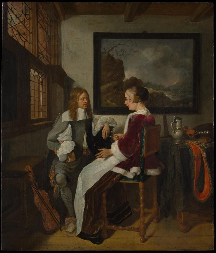 """Quirijn van Brekelenkam """"Conversation galante"""""""