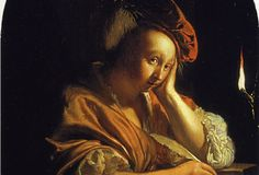 "Frans van Mieris ""L'inspiration"""