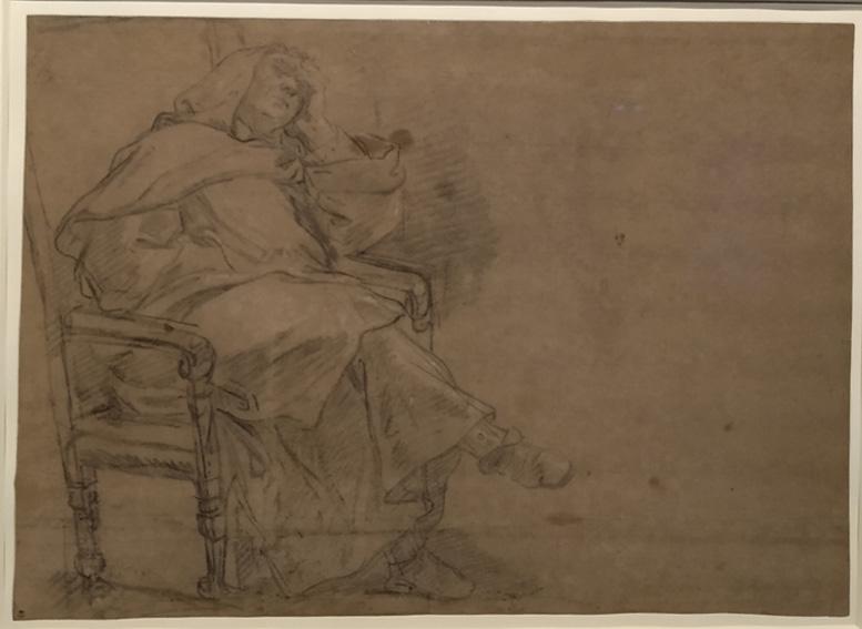 33 Jean-Baptiste Jouvenet moine endormi dans un fauteuil