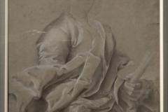 21étude d'après le portrait de charles Le Brun Atelier de Hyacinthe Rigaud