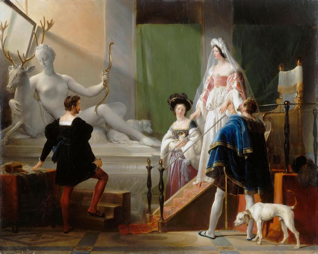 "Alexandre-Évariste Fragonard ""Diane de Poitiers dans l'atelier de Jean Goujon"""