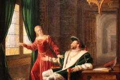 """Fleury François Richard """"François Ier montre à Marguerite de Navarre, sa sœur, les vers qu'il vient d'écrire sur une vitre avec son diamant"""""""
