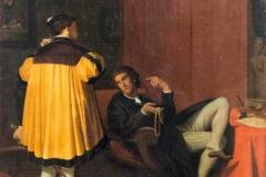 """Jean-Auguste-Dominique Ingres """"L'Arétin et l'envoyé de Charles Quint"""""""