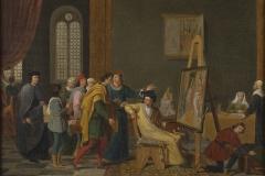 """Joseph-François Ducq """"Antonello de Messine dans l'atelier de Jan van Eyck"""""""