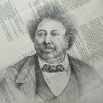 portrait Alexandre Dumas, dessin