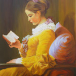 copie peinture classique, techniques anciennes,copie Fragonard, peinture liseuse