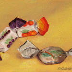 alla prima, daily painting,nature morte,bonbons