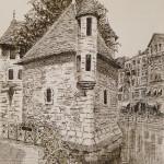 dessin,Palais de l'Isle, Annecy