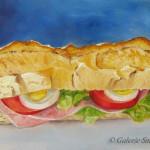 alla prima, daily painting,nature morte,sandwich