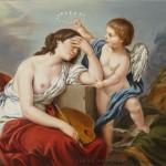 copie peinture classique, techniques anciennes, copie Lagrenée,allégorie peinture