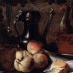 nature morte, Heda, Musée Ixelles, petit pain