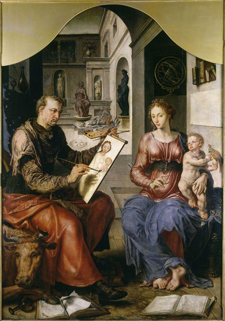 St Luc peignant la Vierge, Marteen Van Heemskerck