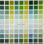 nuancier vert, étude des verts