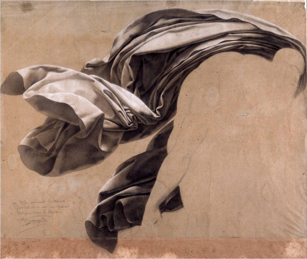Girodet, étude de draperie, Nantes, salon du dessin