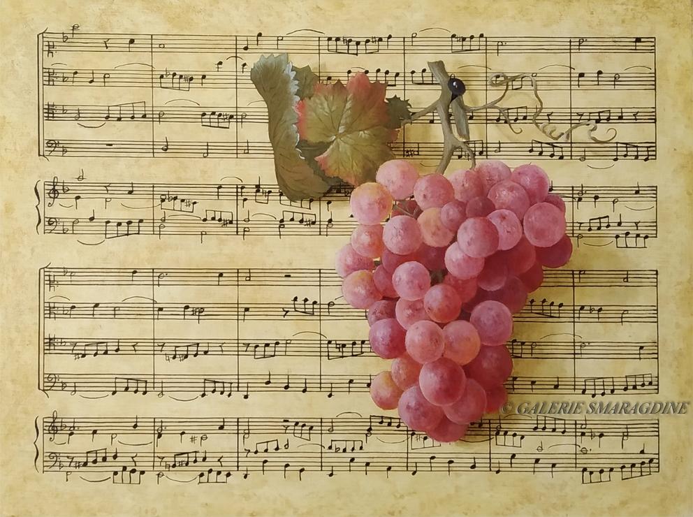 fugue, Bach, raisin, nature morte